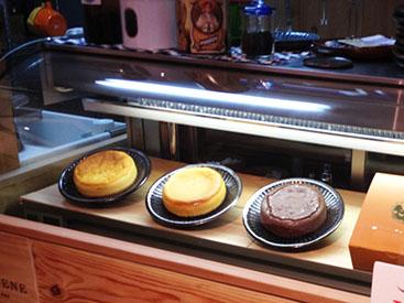 MsCAチーズケーキ メニュー表FEでは常に3種のチーズケーキをご用意しております。